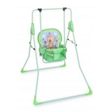 Качель детская напольная Мишка на лужайке (зеленый)