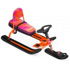 """Снегокат """"Тимка спорт 4-1"""" Nika kids colors (оранжевый каркас)"""