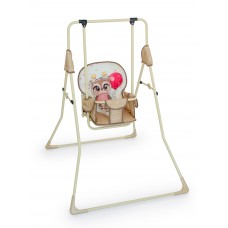 Качель детская напольная Сова с шариком (бежевый)